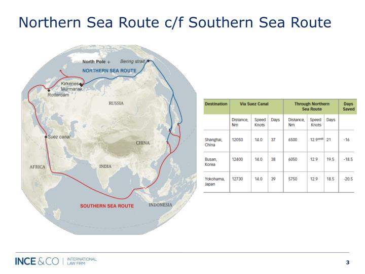 The Northern Sea Route vs Suez Canal Route